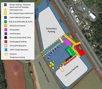 Event Parking / Vendor Map