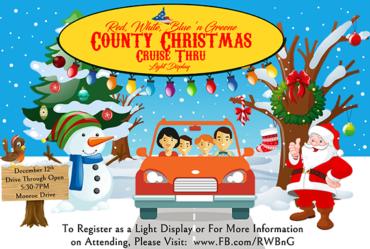 Christmas Cruise Thru and Light Display – December 12th!