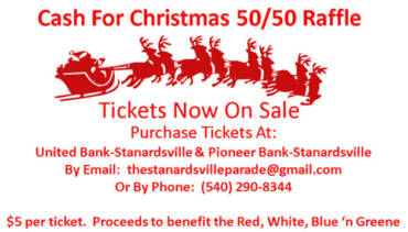 Cash For Christmas 50/50 Raffle Tickets On Sale Now