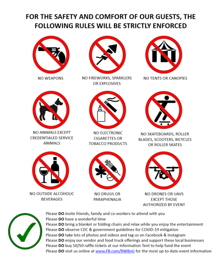 rules for attendance red white blue in greene