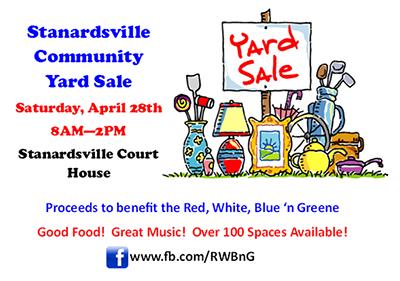 Spring Fling Community Yard Sale Date Set